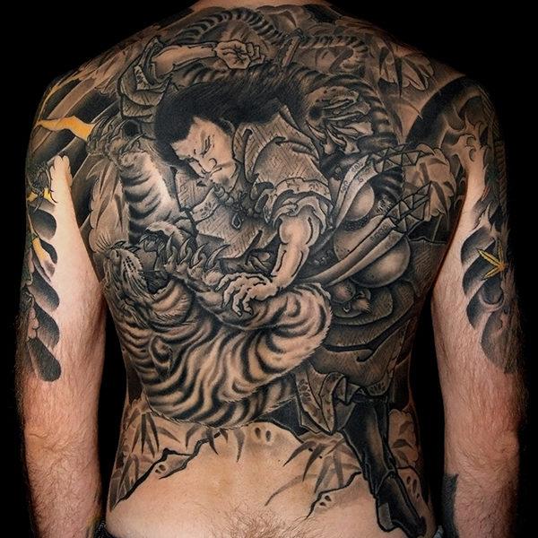 Японская Татуировка - спина. Japanese Tattoo