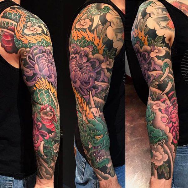 Японская Татуировка - Рукав. Japanese Tattoo